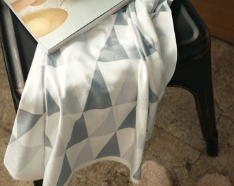 Microfiber Minky Fabric Triangle Gray By The Yard