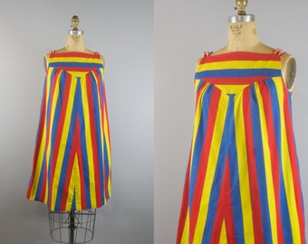 Circus Troop Dress / 1960s Dress / 60s Shift Dress