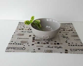 Natural linen placemat, coffee placemat,table decor
