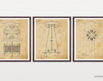 Tesla Poster - Inventions of Nicola Tesla - Tesla Wall Art - Tesla Coil - Tesla Print - Tesla Patent - Tesla Patent Poster - Nicola Tesla