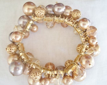Gold and Taupe Chacha Bracelet