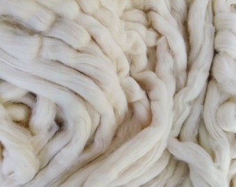 Supima Cotton Sliver, Long Staple Pima Spinning Cotton, choice of Combed Top or Carded Roving. Natural Undyed fiber.