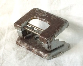 Paper hole maker soviet vintage paper perforator old paper hole puncher office collectibles