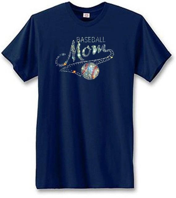 Items Similar To Baseball Mom Rhinestone Unisex T Shirt