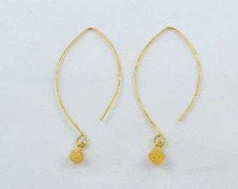 Honey Quartz Drop Earrings