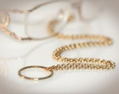 Antique Gold Eyeglass Necklace. Also Available in Silver & Gunmetal