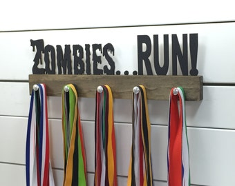 Zombies Running Medal Holder - 12 or 20 inch