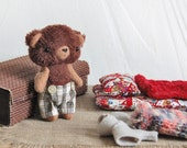Dolls and Miniatures - Toy set - Play Set - Dress up Toy - Toy with clothes - Small Teddy Bear - Kawaii Plush Teddy - Gift for Children