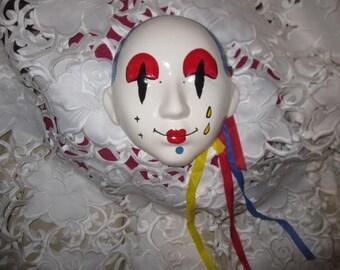 Ceramic Clown Mask Wall Plaque