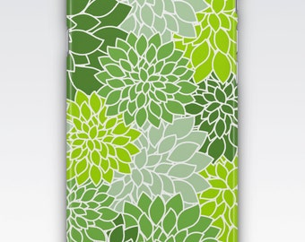 Case for iPhone 8, iPhone 6s,  iPhone 6 Plus,  iPhone 5s,  iPhone SE,  iPhone 5c,  iPhone 7,  Green Dahlias Patterned iPhone