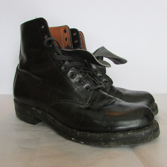 Awesome Details About Womens Black Military Double Folded Combat Boots US 69