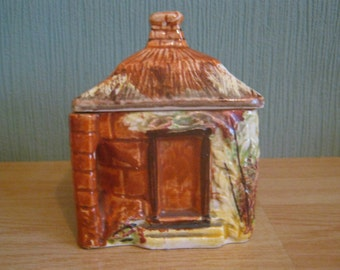 Vintage Price Bros Cottage Ware Small Lidded Sugar Pot