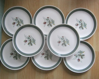 8 Crown Ducal Gay Meadow Side Plates