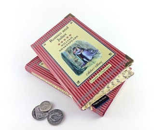 "Romeo and Juliet, William Shakespeare, Book lover gift, Wallet made out of a book, ""Love is a smoke made with the fume of sighs"""
