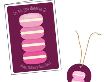 Ombre Macaron Stack 2 | Card and Gift Tag Set | Mother's Day