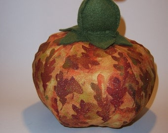 Small Pumpkin with Autumnal Fabric