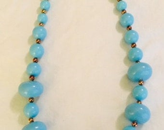 Vintage 80's Plastic Bead Necklace