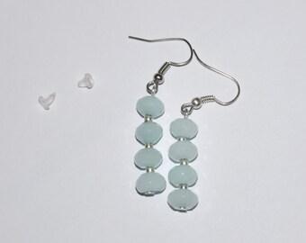 Blue quartz gemstone earrings