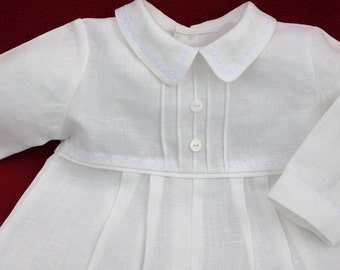 Elegant family christening gown for boys