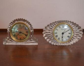 2 Crystal Legend Quartz Clocks By Godinger