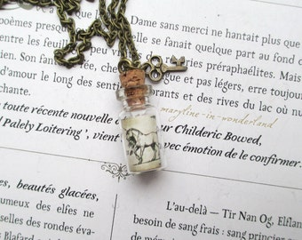 """Unicorn blood"" vial necklace"