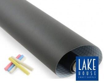 "57"" Removable Chalkboard Vinyl Surface. Large Self Adhesive Chalkboard Surface. Dorm Room Chalkboard."