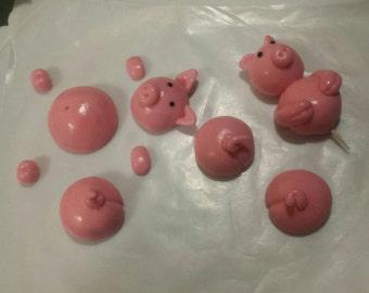 Fondant Swimming Pigs