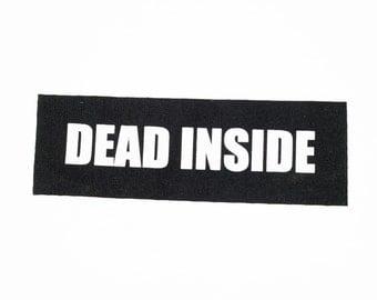 Dead Inside Patch on Black Canvas
