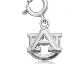Auburn Sterling Silver Charm, Auburn University Jewelry