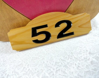Home Address Plaque Sign Numbers New Wood Routed Engraved Cedar Custom Personalized Sanded Black Hand Painted Numbers Outside Home Decor