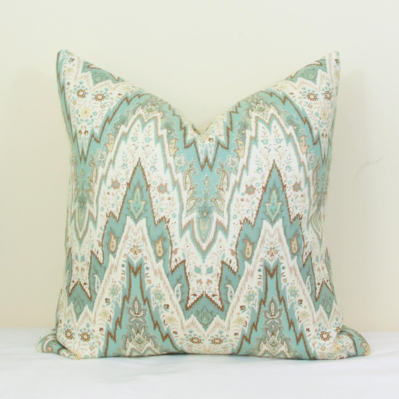 Spa Blue Throw Pillow Cover : Spa blue throw pillow cover 18x18 20x20 22x22 24x24 26x26 Euro