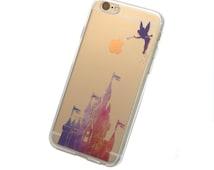 iPhone Magic Kingdom Sunset Case - Your choice of Soft Plastic (TPU) or Wood