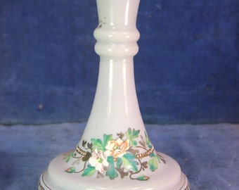 Victorian Hand Painted Opaque Glass Display Vase c.1900 [7507]