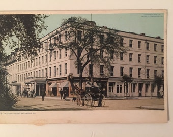 Vintage Ga Postcard Pulaski House Savannah GA 1911