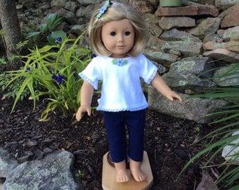 American Girl and Similar 18 inch Doll Capri & Top Set