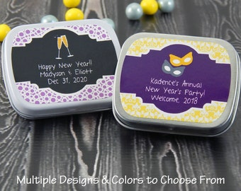 New Years Eve Favors - New Years Eve Wedding - Mint Tins - Favor Tins - Candy Tins - New Years Favors - Set of 10