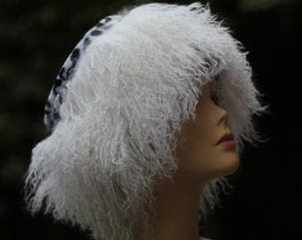 Real fur hats , Unique fur Hats , Women's Winter Hat, millinery hat,womens hats trendy ,winter fashion,Hat llama fur , Women's Fur Hat.