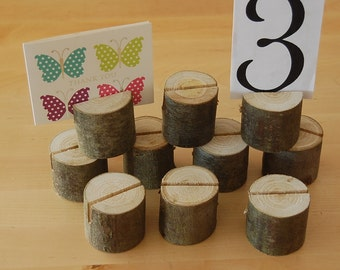 Wooden Wedding Menu Holders, Table Place Name,Menu,Photo,Shop Price Holders,Sweet Chestnut Wood X 15