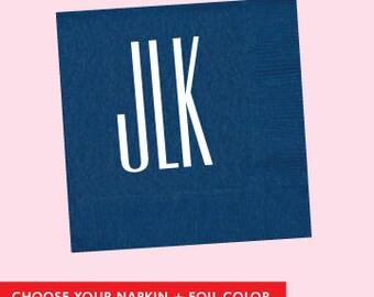 Custom Letters Napkin  *no custom printing plate fee*