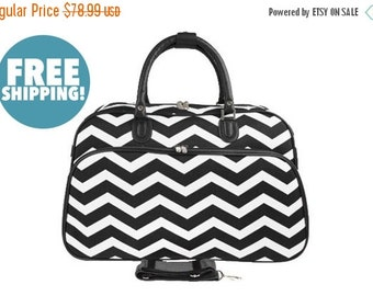"""Moms Sale Pre-Packed Deluxe """"Big Day"""" Maternity Hospital Labor Bag - Chevron Black"""