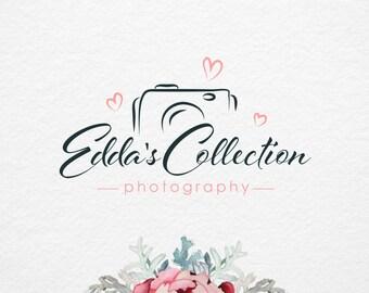 Photography Logo, Premade Photography Logo Design, Pre-Made Logo, Camera Love Logo