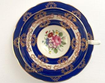 Beautiful Blue Royal Grafton Tea Cup & Saucer