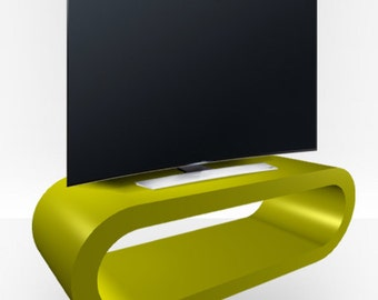 Green Gloss TV Stand - Large Hoop