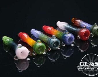 Tornado Twist Colorful Glass Chillum Pipe