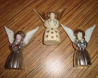Vintage Plastic Christmas Angels Lot of 3
