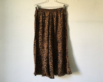 FREE SHIPPING Vintage Skirt - 80s Maxi Silk