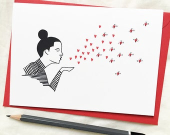Spread the Love - Love Greeting Card