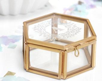 Glass jewellery box personalized jewelry box wedding for Jewelry box with initials