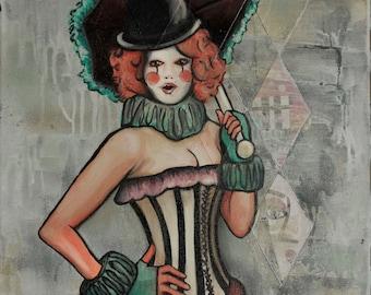 Miss Mysty; Professional Clown - Photo Print