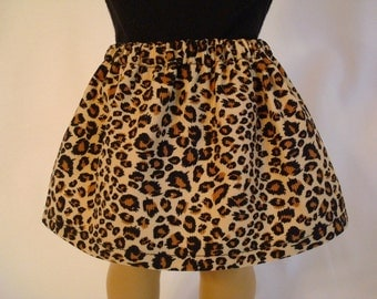 Leopard Corduroy Skirt for American Girl Doll and 18-inch Dolls